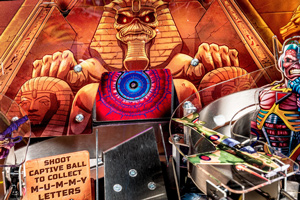 Detail of the Iron Maiden Pro pinball playfield