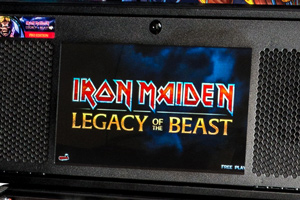 The screen on the Iron Maiden Pro pinball by Stern