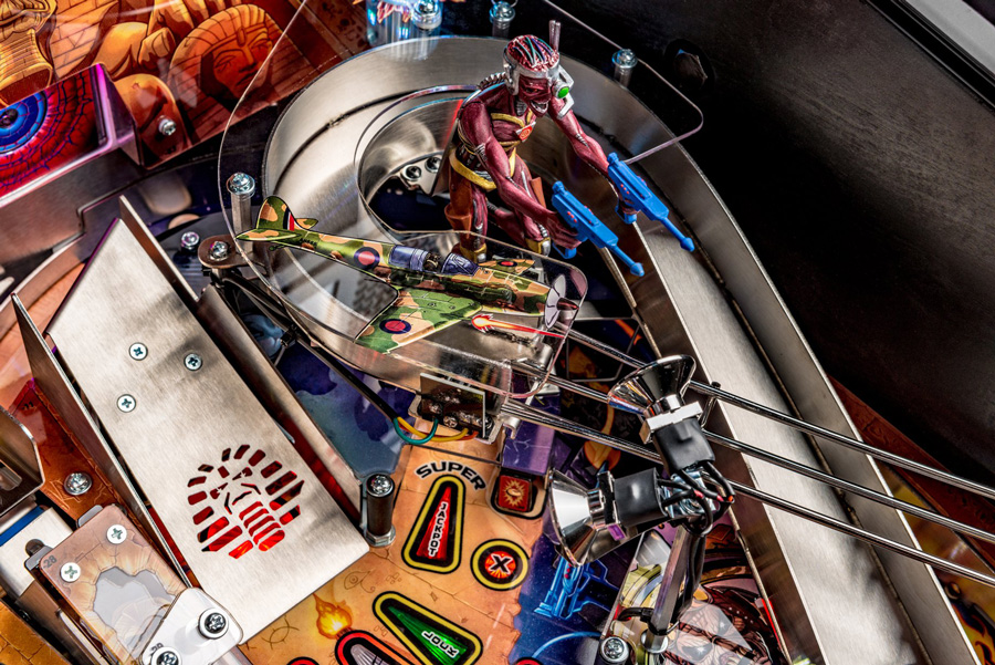 Playfield detail from the Stern Iron Maiden LE Pinball Machine