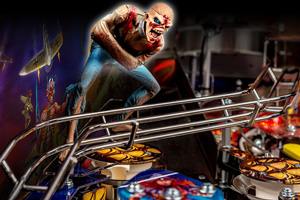Detail of the Iron Maiden LE pinball playfield