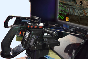 The Walking Dead arcade machine crossbows