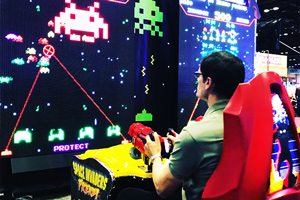 A game on Space Invaders Frenzy