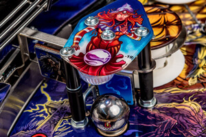 Detail of the Iron Maiden Premium pinball playfield
