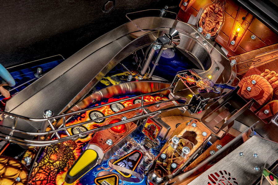 Playfield detail from the Stern Iron Maiden Premium Pinball Machine