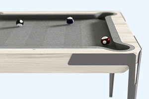 Detail of the Mao pool table