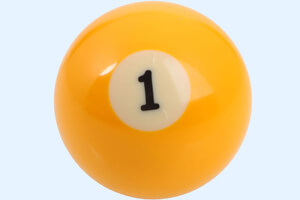 A 1-ball from a billiard table