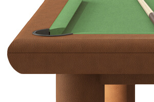 The pocket on the Jazz pool table
