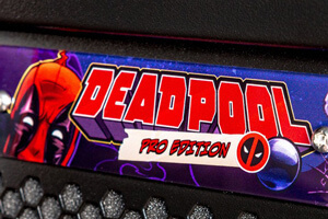 Plaque on the Deadpool Pro pinball playfield