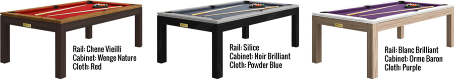 Finishes on the Horizon pool table