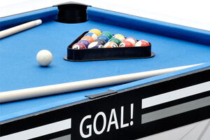 Pool balls on the Goal table