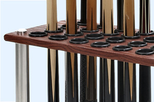 Detail of the Club cue rack