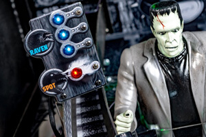 The playfield on the Munsters Premium pinball machine