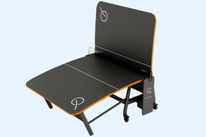 The Teqball Smart table folded