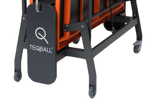 The undercarriage on the Teqball Smart table