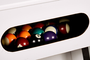 The ball return system on the Lynx Pro pool table