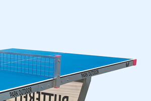 A side shot of the Butterfly Park Outdoor Table Tennis