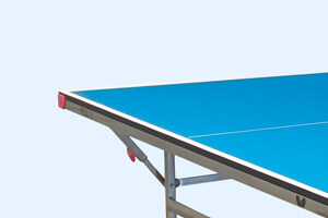 The corner of a Butterfly Active 19 Home Tennis Table