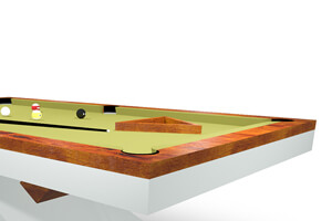 The accessories on a Flow Slate Bed Pool Table