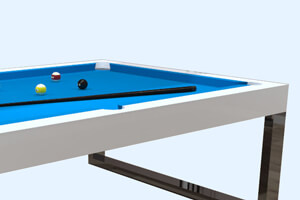 The Singapore Slate Bed Pool table with blue cloth