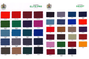 Hainsworth Elite-Pro and Smart colour swatches