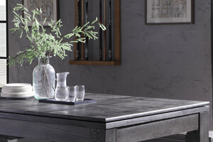 The tabletops included with the Lux Grey pool and dining table.