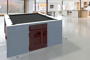 A Fusion Slate Bed Pool table with grey cloth