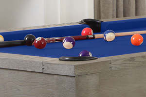 The playfield on the Georgia II pool table.