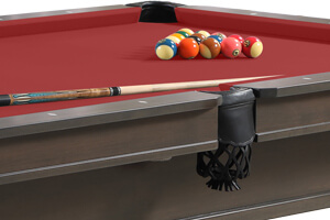 The mid pocket of the Washington II pool table