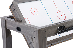 The Pureline 7ft Multi Games & Dining Table rotating.