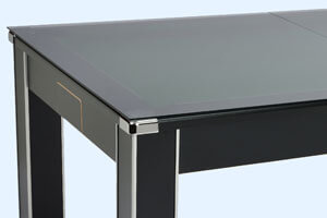 The Vector Slate Bed Pool Dining Table With Glass Cover