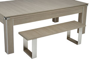 The Vector Slate Bed Pool Dining Table With Wood Cover and Benches