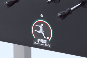 The FAS Pendezza logo on a football table.