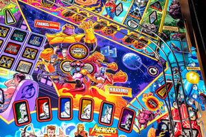 The Stern Avengers Infinity Quest Pinball Machine Features.
