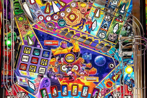 The Stern Avengers Infinity Quest Pinball Limited Edition Machine Artwork.