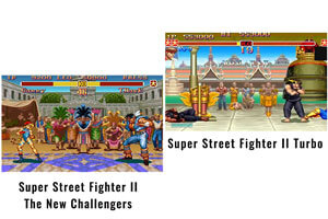 The Street-fighter 2 arcade game.