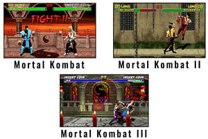 The Mortal Kombat 2 arcade games.