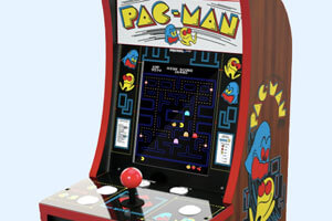 The Countercade Pac-Man cabinet.