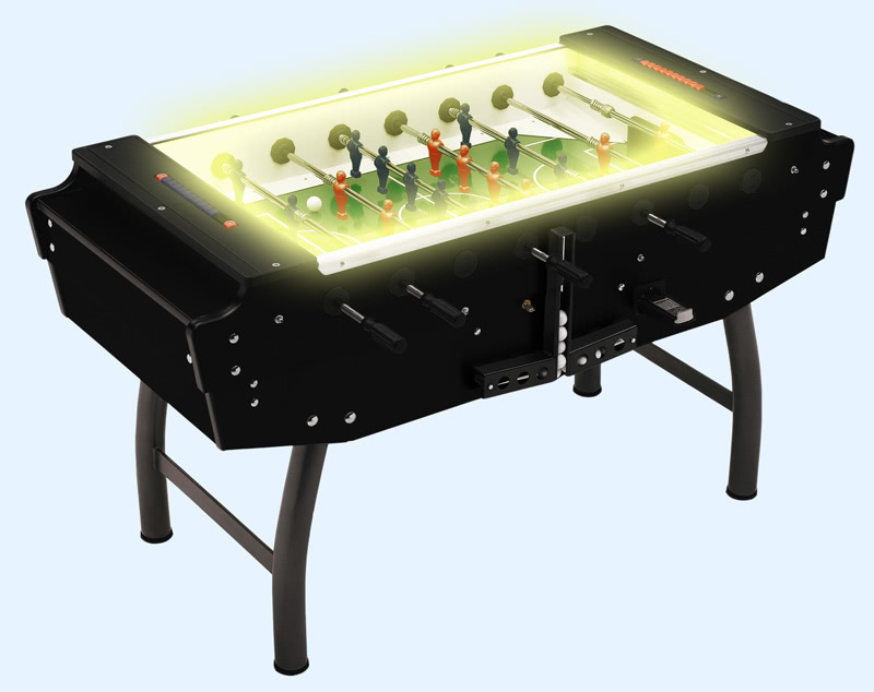 The Striker football table with pitch lighting