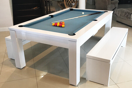 A Phoenix pool and dining table.