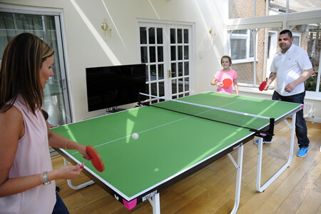 A Butterfly indoor table tennis table.