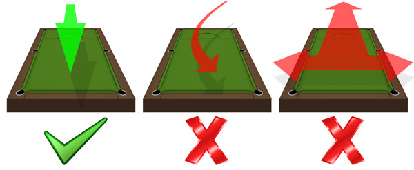 How to brush pool table cloth.