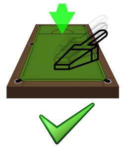 How to hoover a pool table cloth.