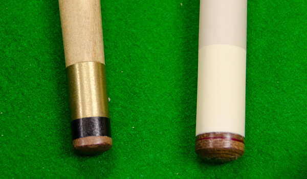 American and British pool cue tips