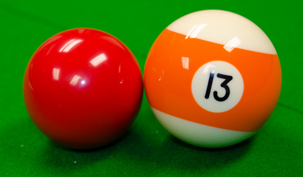 American and British pool balls