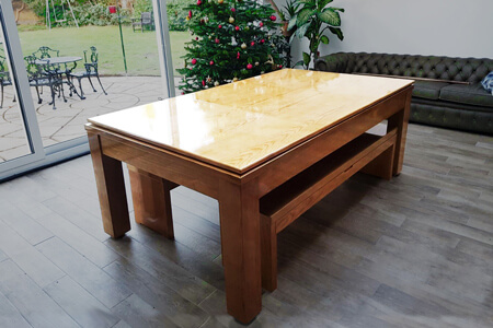 The Precision British pool dining table.