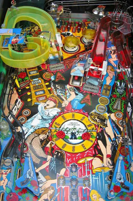 Guns N Roses Pinball Machine Liberty Games