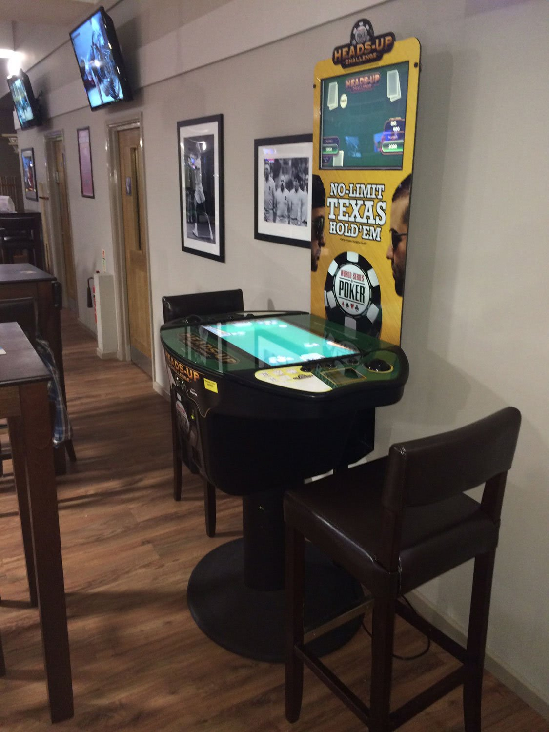 Heads Up Challenge Arcade Poker Table Liberty Games