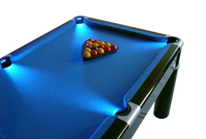 Hockey Tables For Sale Strikeworth Aurora British 6 foot Pool Table with LED Lighting