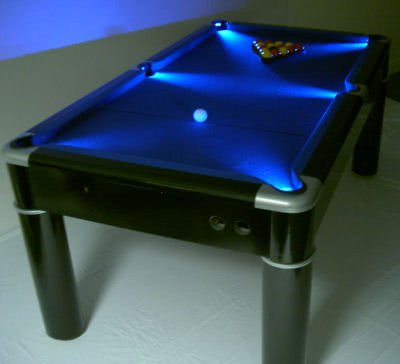 Strikeworth Aurora British 6 Foot Pool Table With LED Lighting