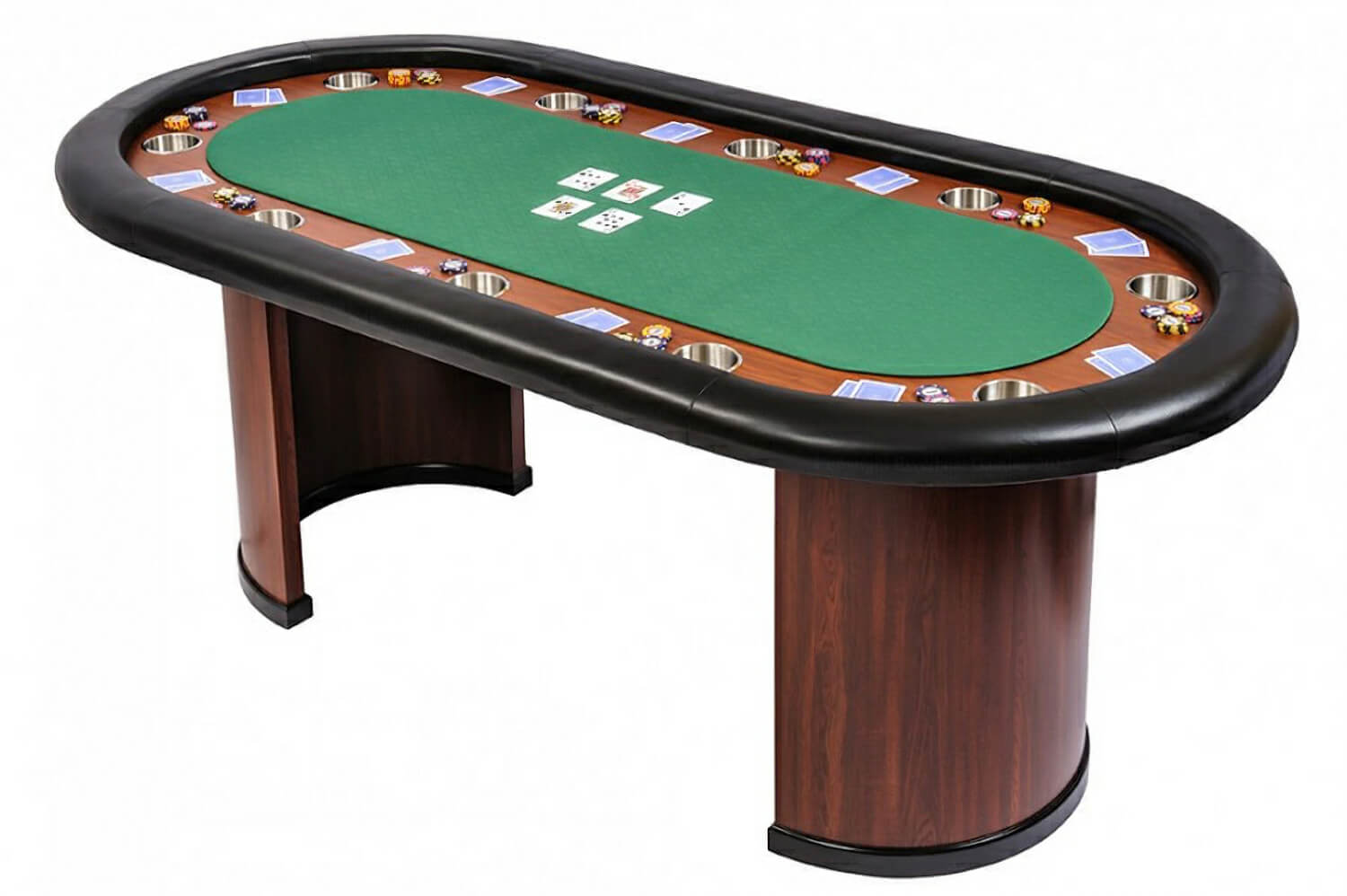Classic 10 person poker table with arc legs green sb10 for 10 player poker table top